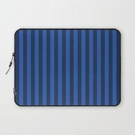Sapphire Blue Stripes Pattern Laptop Sleeve