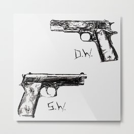 Winchester Initials and Guns Metal Print