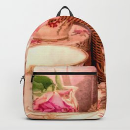 Teacups and Roses 4 Backpack