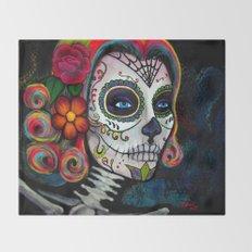 Sugar Skull Candy Throw Blanket