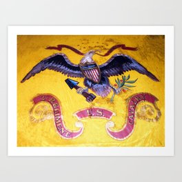 Civil War Eagle on a US Cavalry Flag Art Print