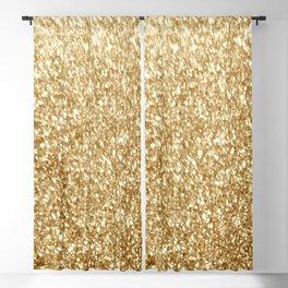 Gold glitter Blackout Curtain