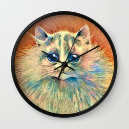 Big Happy Cat - Louis Wain Cats Wall Clock