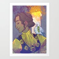dragon age inquisition Art Prints featuring Josephine Montilyet - Dragon Age Inquisition by Allen Lim