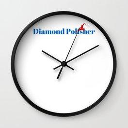 Diamond Polisher Ninja in Action Wall Clock