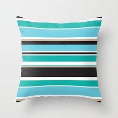 Vivid Stripes Throw Pillow