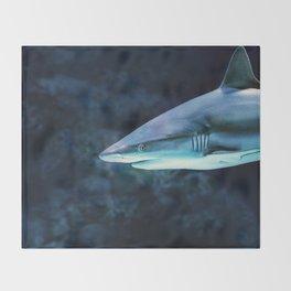 Gray Shark Head (Color) Throw Blanket