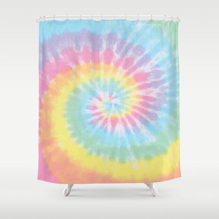 Pastel Tie Dye Shower Curtain
