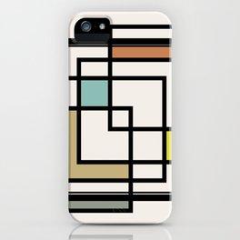 Mid Century Modern Squares iPhone Case