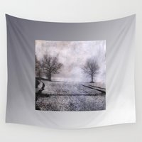 fog Wall Tapestries featuring Fog by PeDSchWork