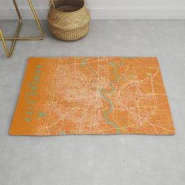 Kansas City, MO, USA, Gold, Blue, City, Map Rug