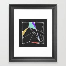 Voronoi Angles Framed Art Print