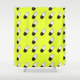 Take a neon pill Shower Curtain