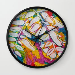 Leaves on the World Tree: Bemba Muombo Wall Clock