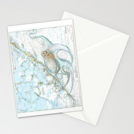 Key Largo Octopus Stationery Cards
