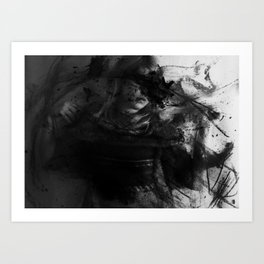 And Cloaked Fangs Art Print