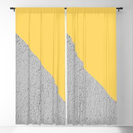 Geometrical Color Block Diagonal Concrete vs Aspen Gold Blackout Curtain