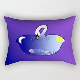 Swan's Lullaby Rectangular Pillow