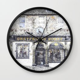 Greyfriars Bobby Pub Snow Wall Clock