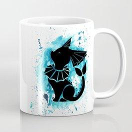 Vaporeon Splash Silhouette Coffee Mug