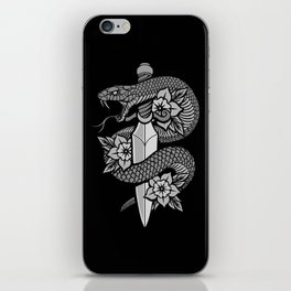 Snake & Dagger iPhone Skin