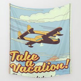 Take a Vacation! Wall Tapestry