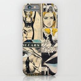 Italian Comics Vintage Pop art Collage iPhone Case