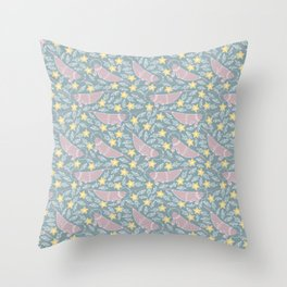 rhino fish Throw Pillow