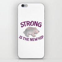 fitness iPhone & iPod Skins featuring Hippo Fitness by mailboxdisco