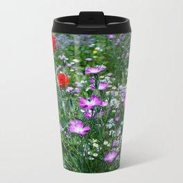 Wild Flower Meadow Metal Travel Mug