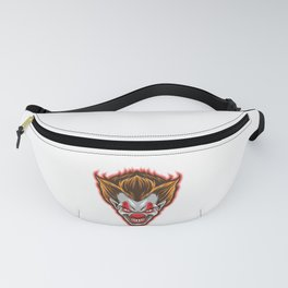 Horror Clown Face Scary Happy Halloween Party design Fanny Pack