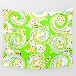 Swirly Green Lite Wall Tapestry
