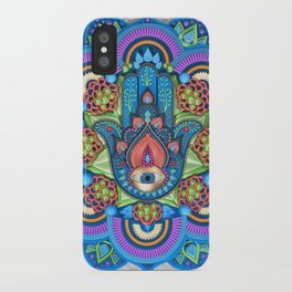 Hamsa Mandala iPhone Case