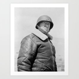 General George Patton Art Print