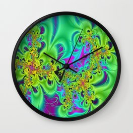 Groovin' In Yellows Wall Clock