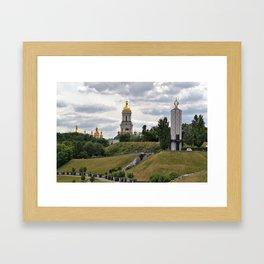 View of the Kiev-Pechersk Lavra Framed Art Print