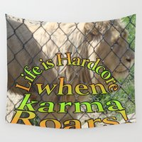 karma Wall Tapestries featuring Hardcore Karma by Trippin Up