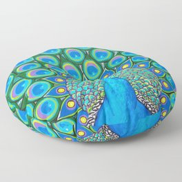 Showing My Colors - Peacock Floor Pillow