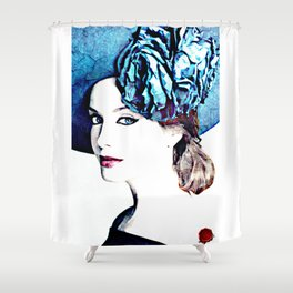 christina hendricks Shower Curtain