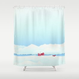 Dale-bay winters Shower Curtain