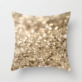 Champagne Gold Lady Glitter #2 #shiny #decor #art #society6 Throw Pillow