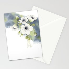 Splashy Floral Watercolor Stationery Cards