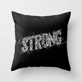 STRONG (White type) Throw Pillow