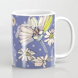 Summer  Daisies with purple and polkadots Coffee Mug