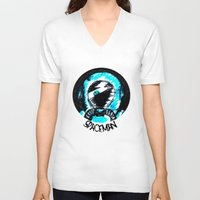 spaceman V-neck T-shirts featuring Spaceman by Humberto Milhomem