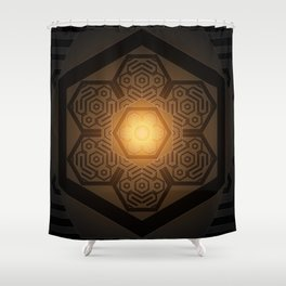 The Three Ages II (Digital version) Shower Curtain