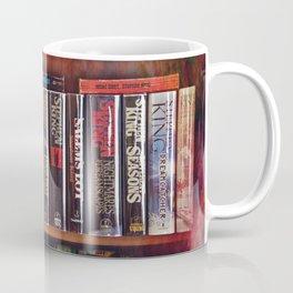 Stephen King Books on Shelves Coffee Mug