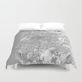 Perth Map Line Duvet Cover