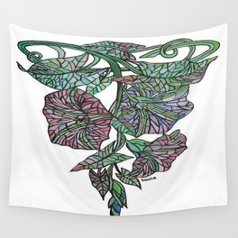 Art Nouveau Morning Glory Isolated Wall Tapestry