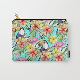 Tropical birds and flowers Carry-All Pouch